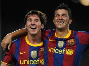 David Villa i Leo Messi