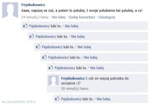 Facebook: Lubienie swoich własnych statusów