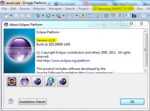 Eclipse 4.2 z Samsung Smart TV SDK