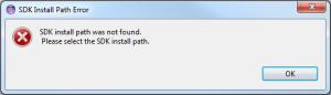 Samsung SDK Install Path Error